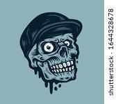 vector illustration of skull... | Shutterstock .eps vector #1644328678