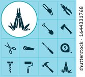 Handtools Icons Set With Pliers ...