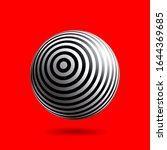 black and white striped sphere...   Shutterstock .eps vector #1644369685