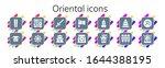 oriental icon set. 14 filled... | Shutterstock .eps vector #1644388195