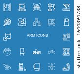 editable 22 arm icons for web... | Shutterstock .eps vector #1644394738