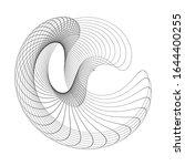 circular wireframe mesh logo... | Shutterstock .eps vector #1644400255
