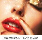 soft focus portrait of... | Shutterstock . vector #164441282