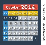 calendar for october 2014