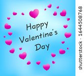 happy valentine's day greetings ... | Shutterstock .eps vector #1644508768