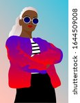 portrait of  fashinable woman...   Shutterstock .eps vector #1644509008