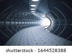 Futuristic Tunnel With White...