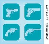 gun icon   four variations | Shutterstock .eps vector #164458295