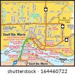 sault ste. marie  ontario area...   Shutterstock .eps vector #164460722