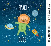 space dude greeting card. kids... | Shutterstock .eps vector #1644611572