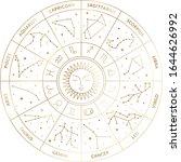 horoscope wheel calendar... | Shutterstock .eps vector #1644626992