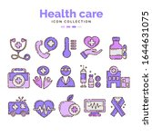 health care icon collection...   Shutterstock .eps vector #1644631075