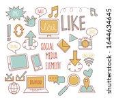 business doodle sketch set ... | Shutterstock .eps vector #1644634645