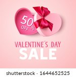 valentines day sale design... | Shutterstock .eps vector #1644652525