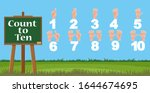 number one to ten with finger...   Shutterstock .eps vector #1644674695