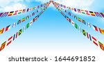 flag sports day sky background | Shutterstock .eps vector #1644691852
