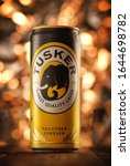 Small photo of MINSK, BELARUS-FEBRUARY 11, 2019: Can of Tusker beer. Tusker is a beer brand owned by East African Breweries.