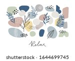 abstract collage with shape... | Shutterstock .eps vector #1644699745