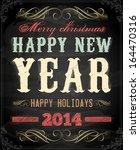 vintage christmas card design.... | Shutterstock .eps vector #164470316