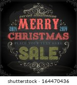 vintage christmas card design.... | Shutterstock .eps vector #164470436