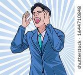 business man talk about...   Shutterstock .eps vector #1644710848
