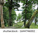 Wooden Stairs Leading From The...