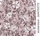 Dog Rose Seamless Pattern....