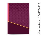 elegant cover page with pattern ...   Shutterstock .eps vector #1644756112