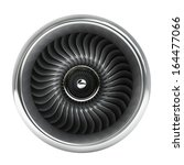 Jet Engine Front View Isolated...