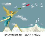 angel of mexican independence... | Shutterstock .eps vector #164477522