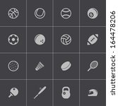 vector black sport icons set | Shutterstock .eps vector #164478206