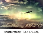 Ufo In Surreal Sky With Glowin...