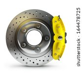 brake disk with a yellow... | Shutterstock . vector #164478725