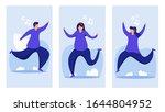 people listening to music.... | Shutterstock .eps vector #1644804952