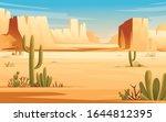 desert landscape of stone... | Shutterstock .eps vector #1644812395