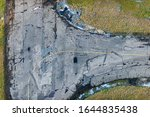 Aerial View Over The Runway On...
