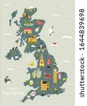 vector illustrated map of great ... | Shutterstock .eps vector #1644839698
