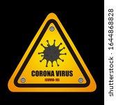 corona covid 19 virus from... | Shutterstock .eps vector #1644868828