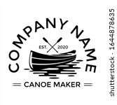 Kanoe Vector illustration, caneo and kayak maker logo template