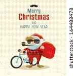 hipster christmas | Shutterstock .eps vector #164488478