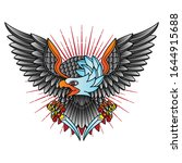 traditional eagle flash tattoo  ... | Shutterstock .eps vector #1644915688