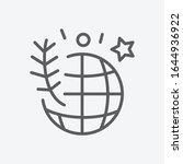 earth day icon line symbol....