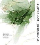 emerald abstract watercolor... | Shutterstock .eps vector #1644941845