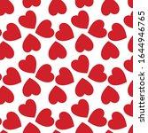 red love heart vector patten   Shutterstock .eps vector #1644946765