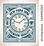 Retro Stamp Design With...
