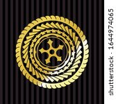 ninja star icon inside shiny... | Shutterstock .eps vector #1644974065