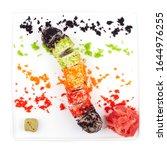 Small photo of Sushi plate with Tiger Rolltempura, Philadelphia, Crunch, Dynamite, Rainbow Roll, Dragon, California Roll