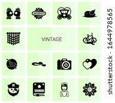 14 Vintage Filled Icons Set...
