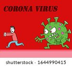vector illustration corona... | Shutterstock .eps vector #1644990415