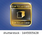 shiny badge with bread icon... | Shutterstock .eps vector #1645005628